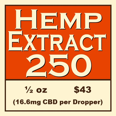 Click Image to Purchase Hemp Extract 250