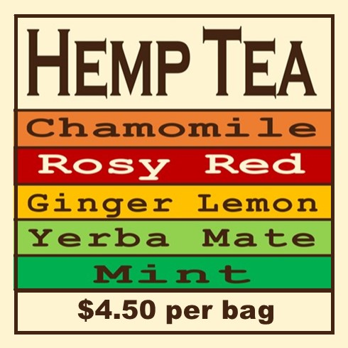 Click Image to Purchase Single Bags of Hemp Flower Tea