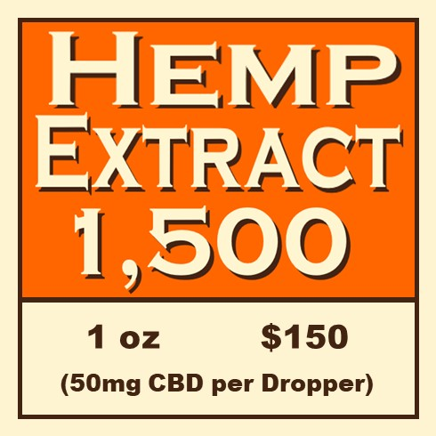 Click Image to Purchase Hemp Extract 1,500