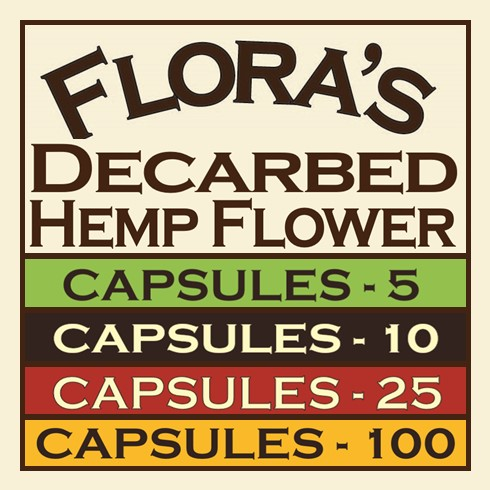 Click Image to Purchase Decarbed Hemp Flower in Capsules
