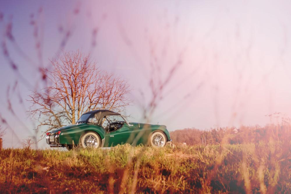 Generations of Triumph (1960 Triumph TR3)