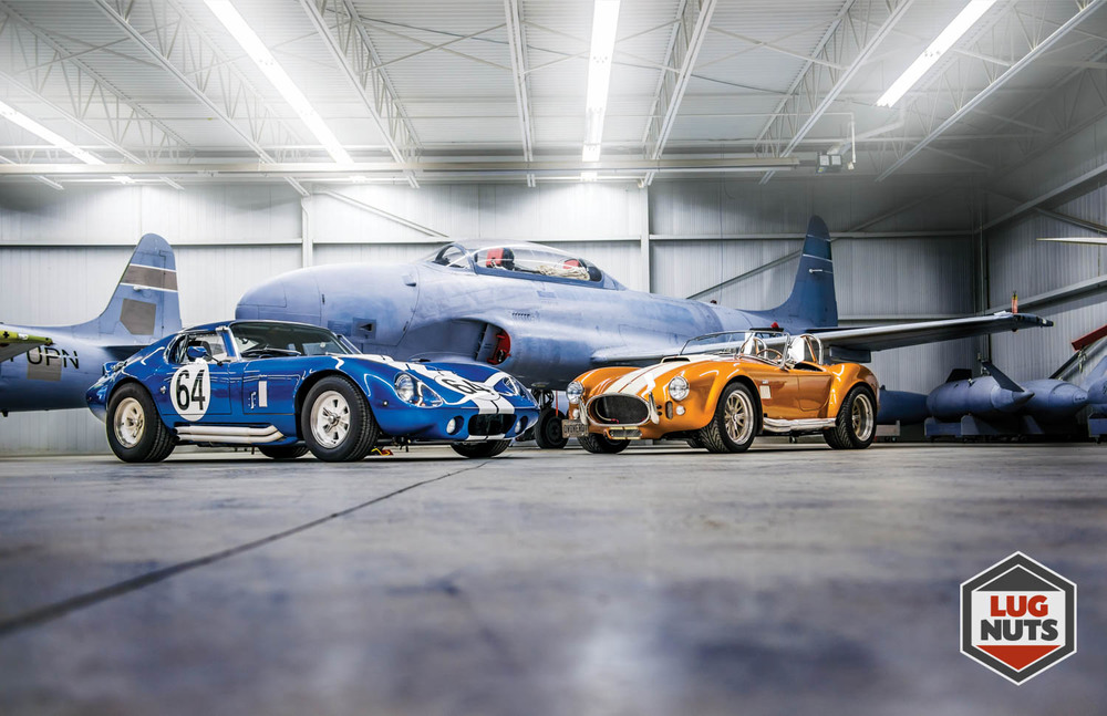 Daytona Coupe and Shelby Cobra in the Jet Aircraft Museum of London Ontario