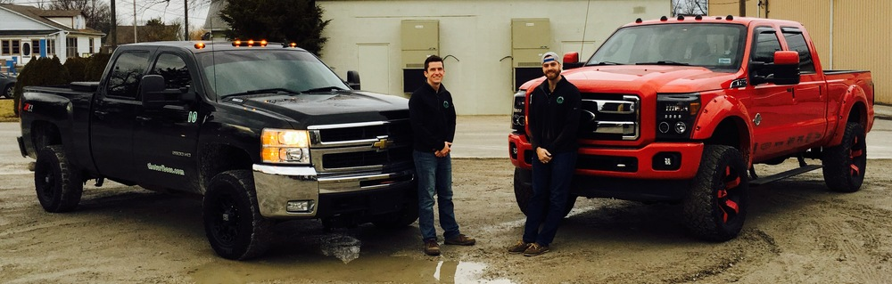 Matthew Kelly (left), President of The Turf Boss & Kevin Thompson (right), Operations Director of The Turf Boss