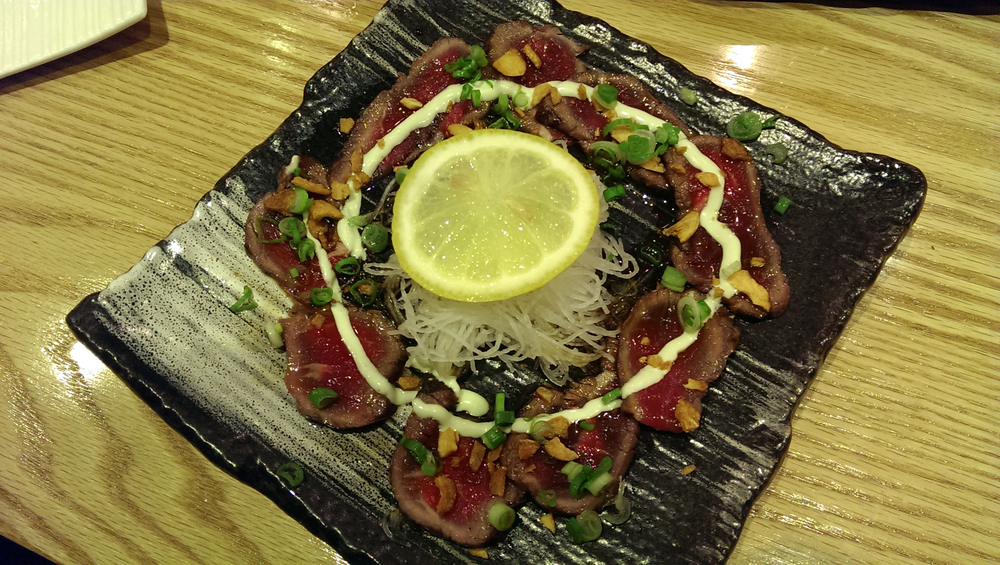 Beef carpaccio with shiso dressing