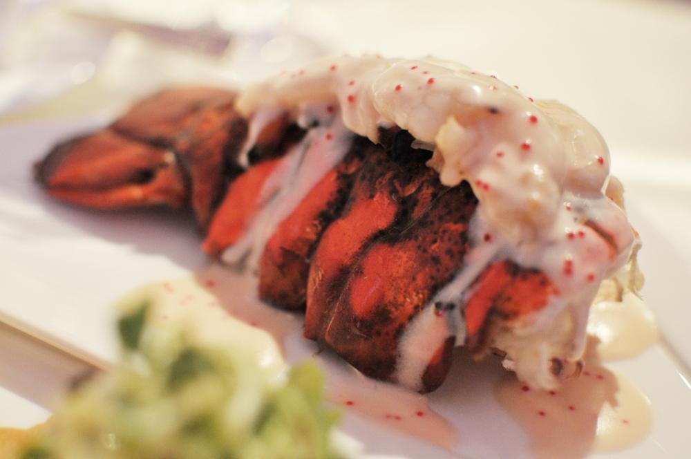 Lobster tail, tobiko beurre blanc