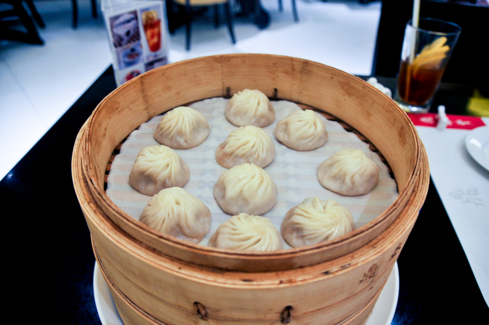 "The infamous ""xiao long bao"" soup dumplings at Din Tai Fung"