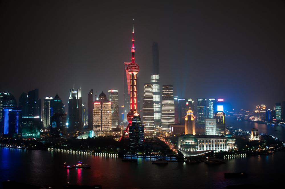 Shanghai view from Vue Bar