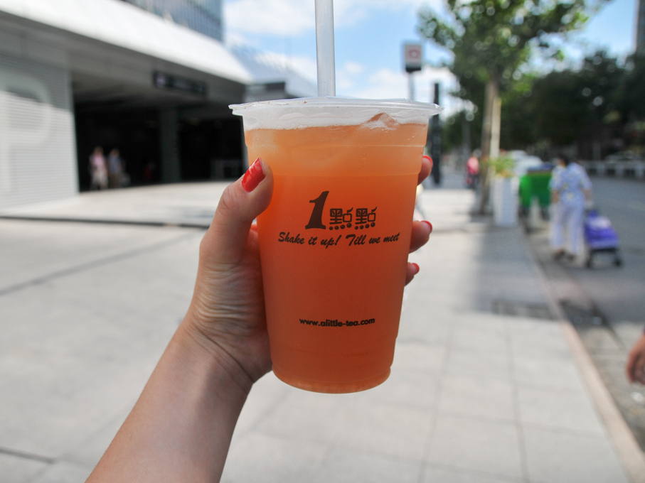 Grapefruit bubble tea