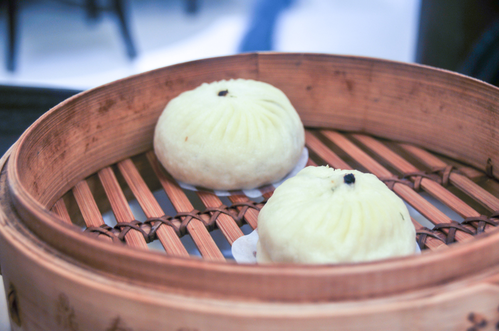 Steamed vegetarian buns