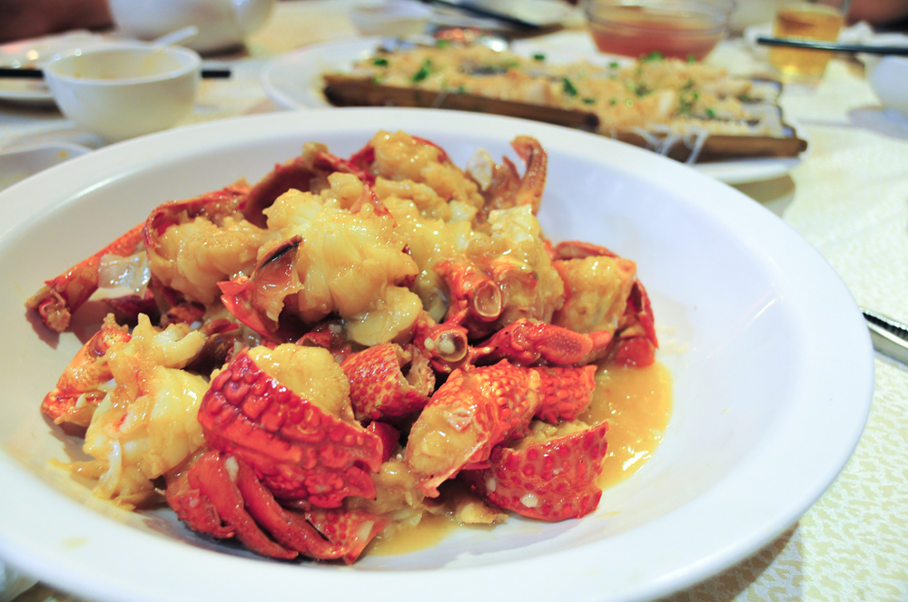 Stir fried Australian lobster