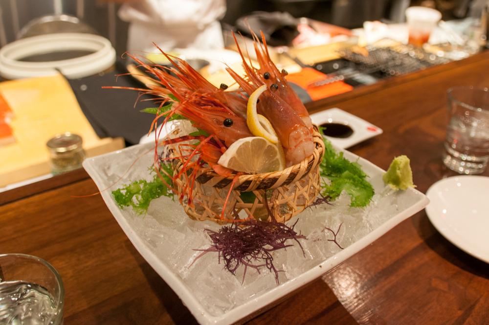 Minami prawn sashimi
