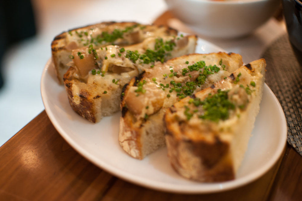 The Chase Fish & Oyster grilled sourdough roasted pear butter
