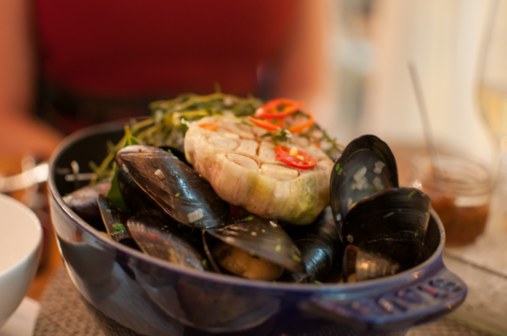 The Chase Fish & Oyster steamed mussels