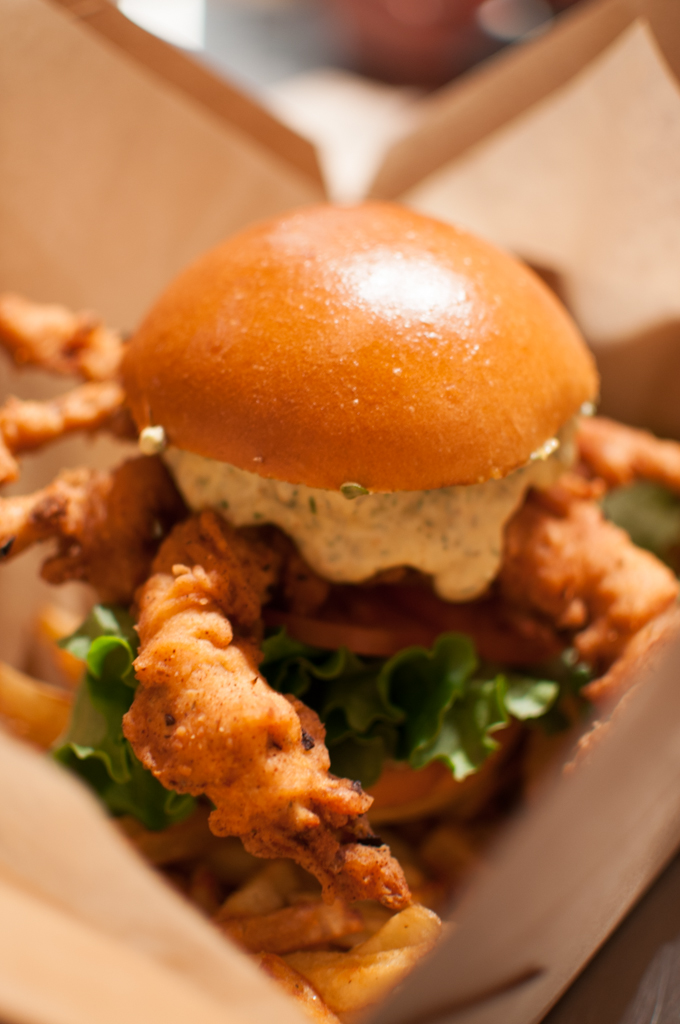 Fresh Off The Boat soft shell crab sandwich