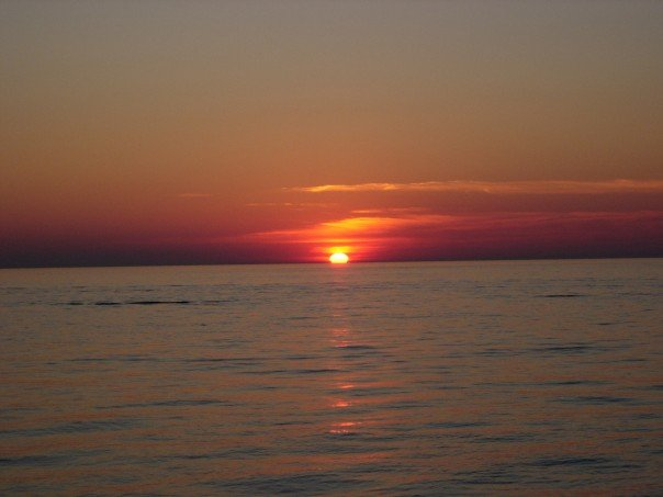 Cleveland, OH: Sunset on Lake Erie