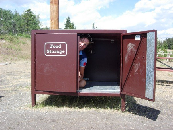 Glacier National Park, MT: Food storage bin