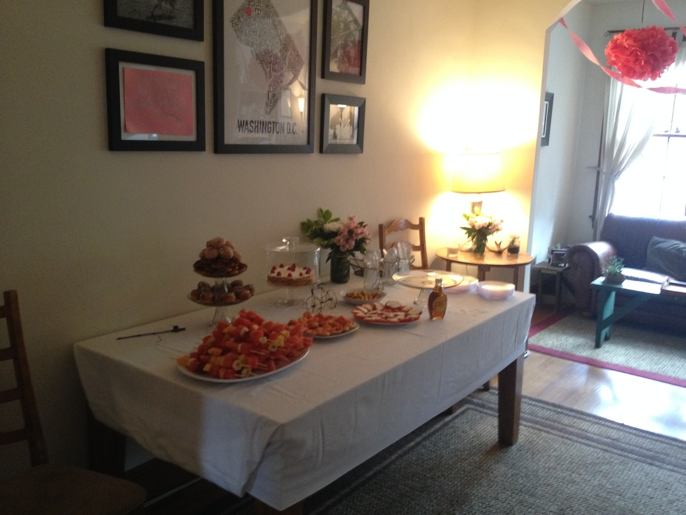 Beautiful spread for our FAB engagement party, compliments of Ry and Alana! Thanks guys!