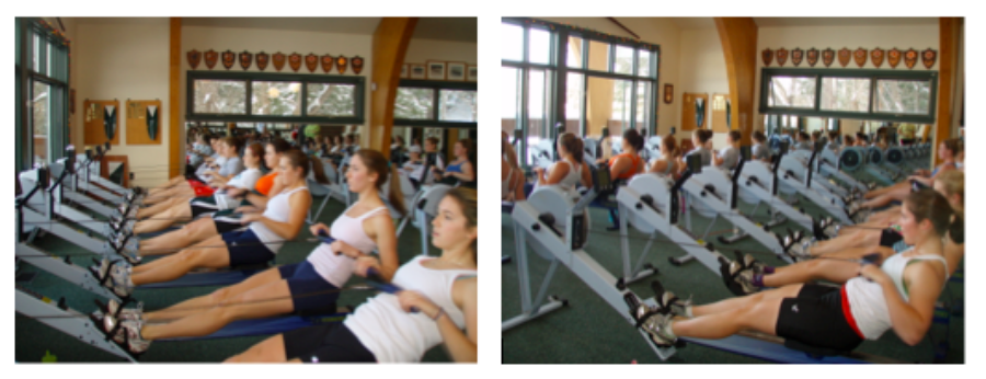 Typical women's practice - erging/rowing in tandem