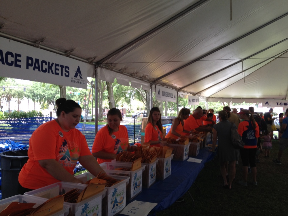 Check-in was smooth as silk thanks to the many awesome, smiling volunteers!