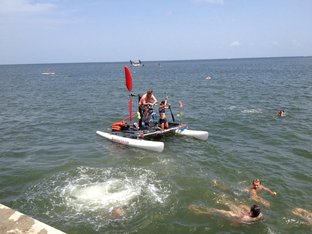 Fun in the sun (slash wind) during my shakeout swim