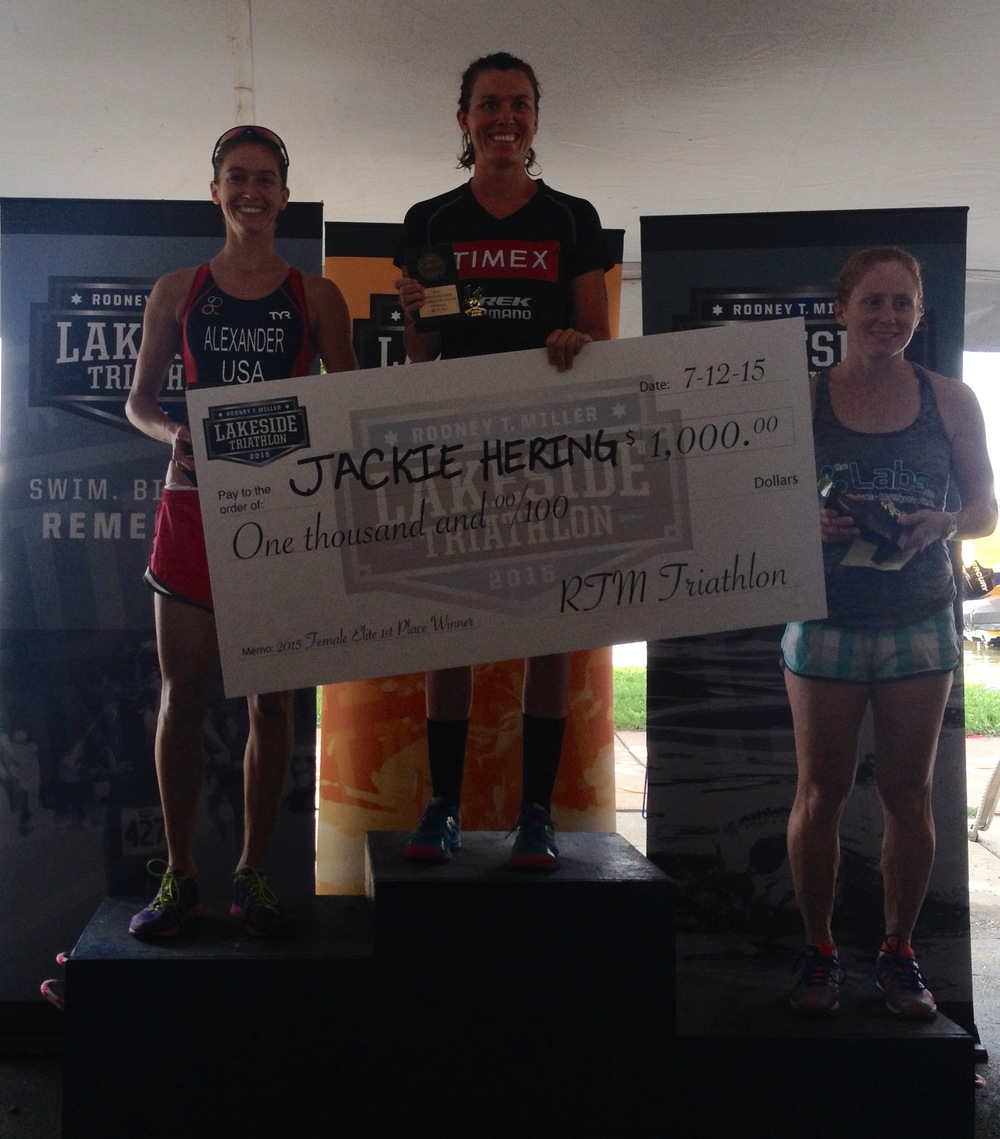 2015 Lakeside Tri Female Podium