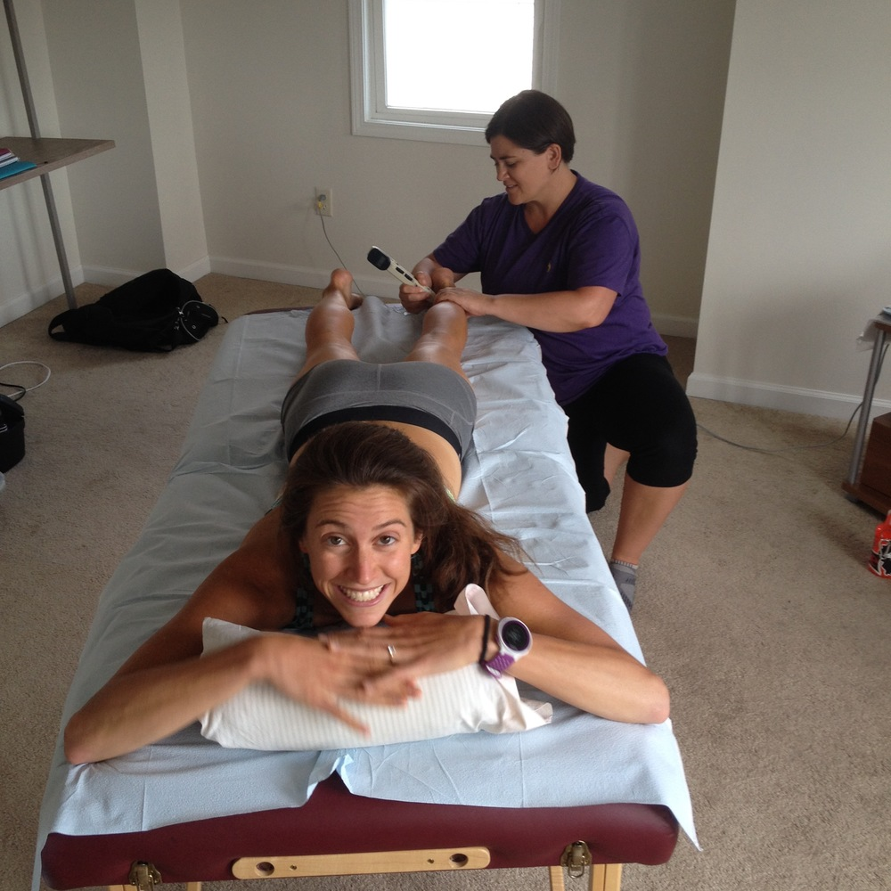 Body work with Kim Whitney (the soft tissue guru!) = painful AND happy times