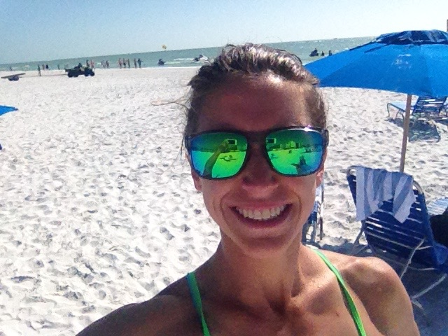 Beach swimmminggggg! Thanks to Rudy Project for keeping my eyes shielded!