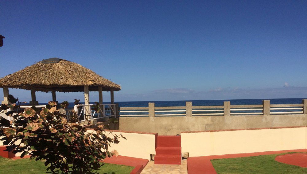 "Our ""back yard"" in Cuba -- imagine warm sun, soft breeze, fresh salt air, and sound of waves on the beach! #heaven"