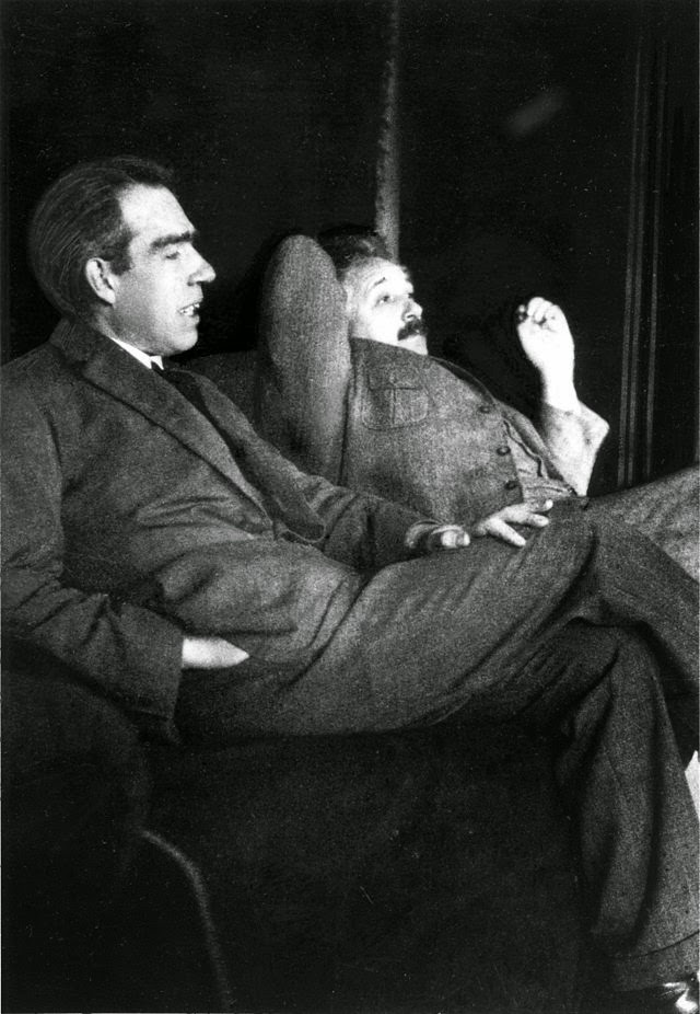 Bohr and Einstein at Ehrenfest's house, in 1925. Source: Wikimedia
