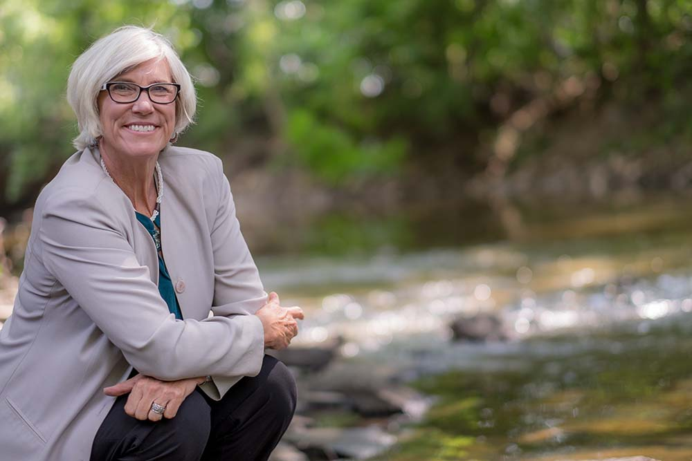 Joan B. Rose, Ph.D., the Homer Nowlin Endowed Chair of Water Research, Co-Director of the Center for Water Sciences, and Co-Director of the Center for Advancing Microbial Risk Assessment