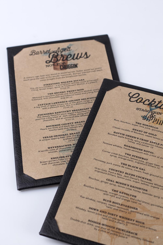 menus full size