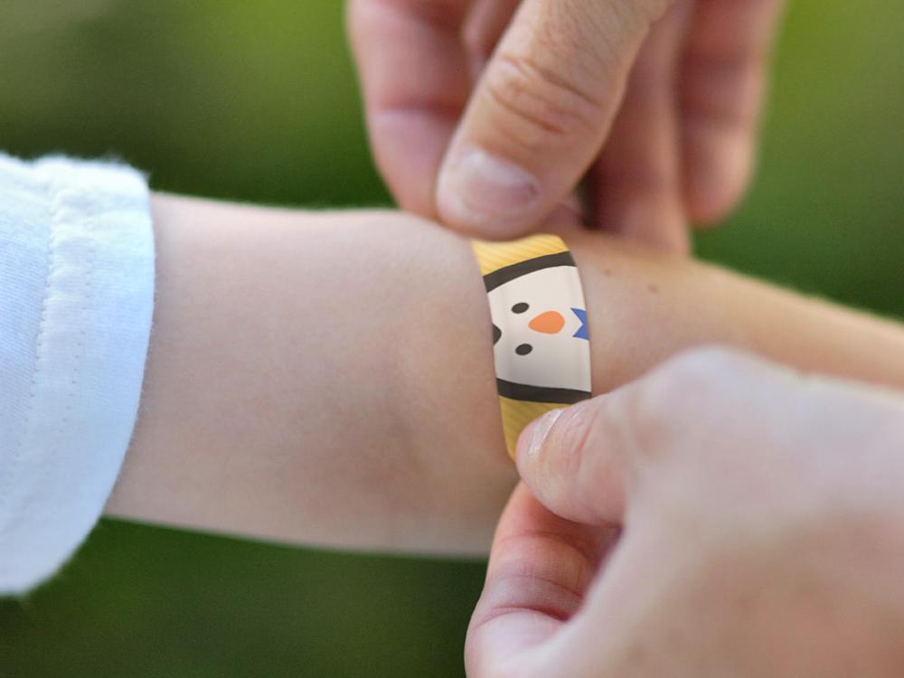 penguin bandage on skin