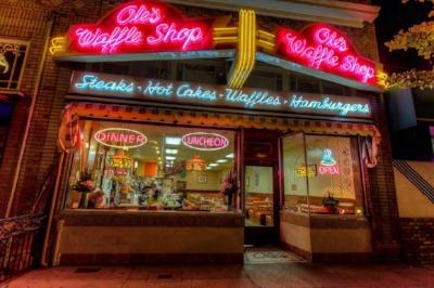 Ole's Waffle Shop, Park St., Alameda, CA