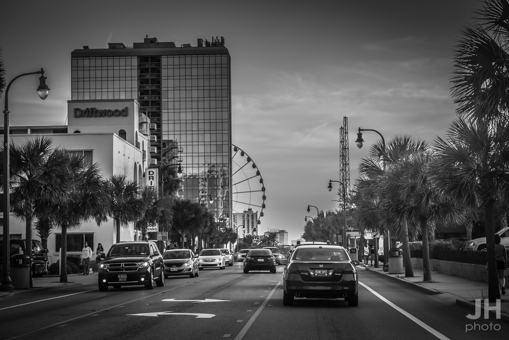 Ocean Boulevard in Myrtle Beach, South Carolina