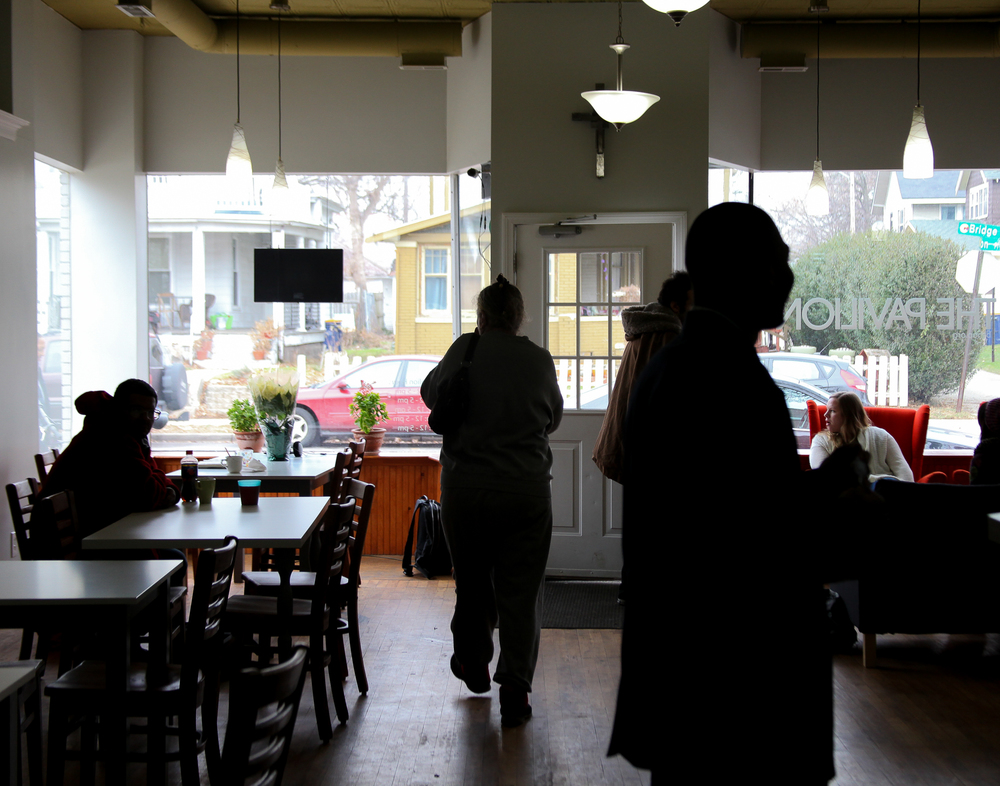 The Pavilion is a ministry of Bridge Street House of Prayer that offers free coffee and a safe, welcoming space for people on the westside. It is a common daytime hang out for homeless youth.