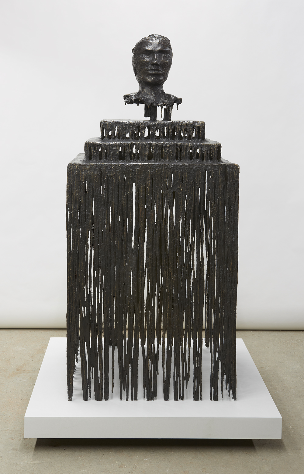 Blind Bust III, 2012   Bronze, painted stainless steel   76 x 34 x 48 inches     193 x 86.4 x 121.9 cm   Photo Credit: Jason Wyche