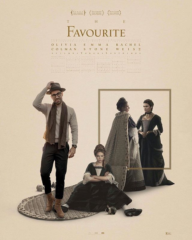 Of all the 2019 Oscar nominees, The Favourite was not my favorite. Despite brilliant performances, masterful storytelling, and a visionary director, the ending left me looking like Emma Stone in this poster. It ruined what would have been a compelling film. . You may disagree because The Favourite was your favorite. Tell me why you loved this movie so we can argue online and set the internet ablaze... let's discuss! .  What was your favorite film last year?  What do you think deserves an Oscar for Best Picture?