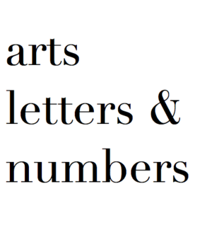 arts letters & numbers