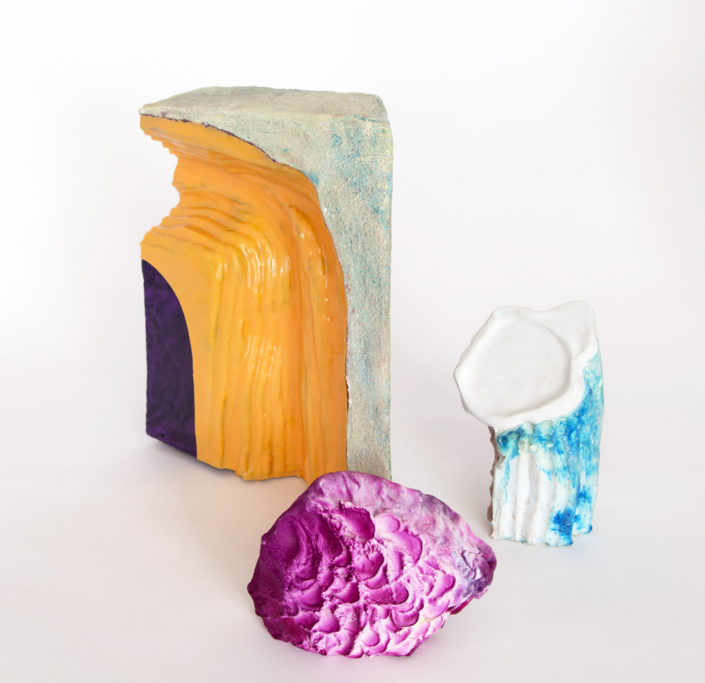 Mariana Garibay Raeke. Nautical Case of Forgotten Eccentricities, EPS foam, epoxy, concrete, wax, latex, gypsum cement, fabric, clay, glitter, dye, pigment, 2015.