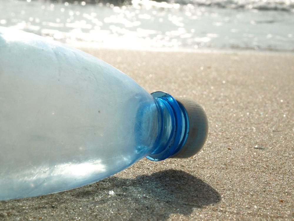 Plastic bottle washed up on Vero Beach in 2012 (Photo: R. Herren).