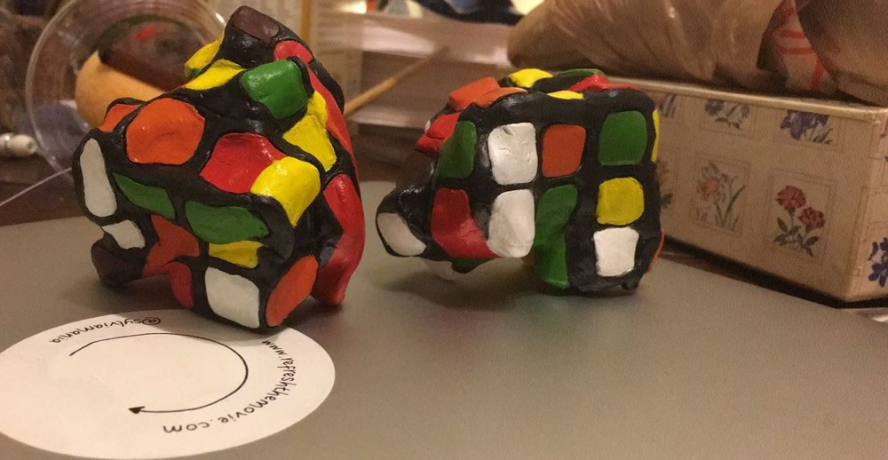 Rubik's cubes (melted)