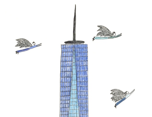 Freedom Tower Original Drawing Natchie