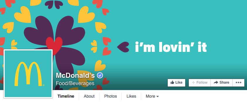 McDonald's has a crisp, clean design that is timely for the upcoming holiday.