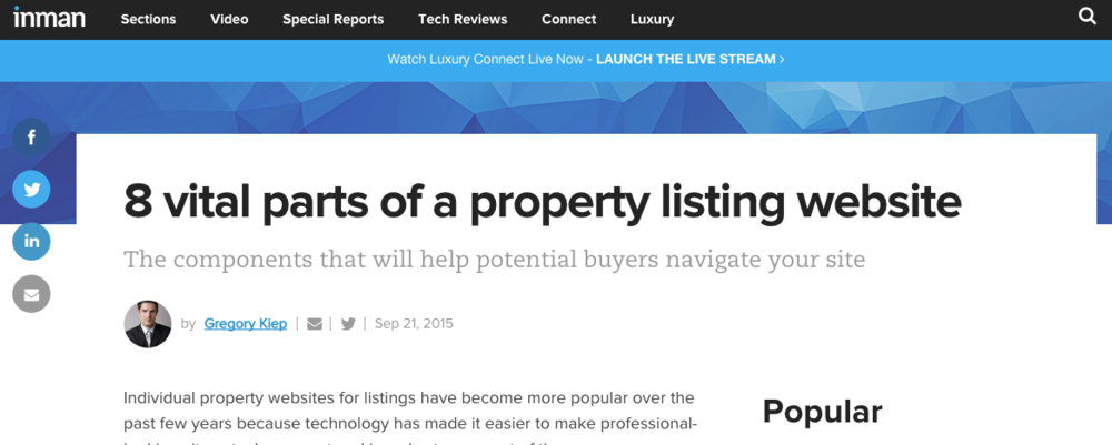 8 vital parts of a property listing website