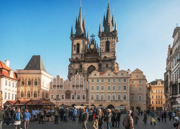 Tyn Church in Prague, Czech Republic