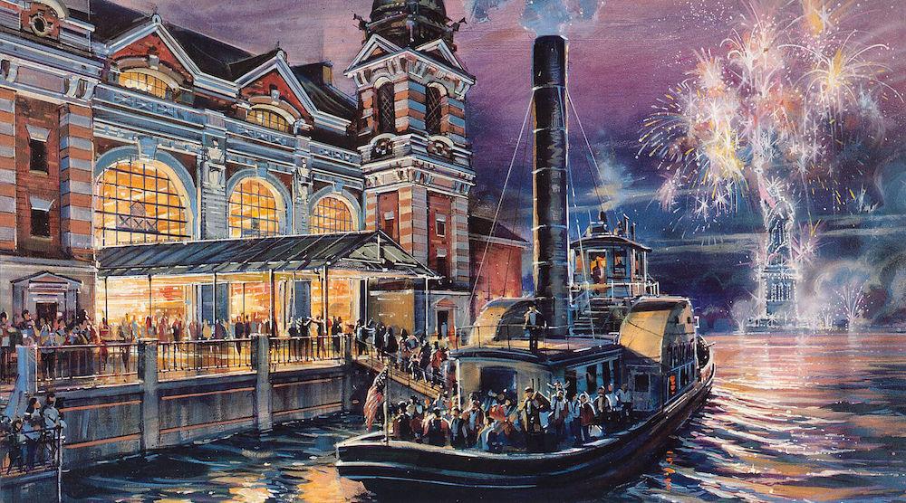 "Concept Art of ""Disney's America"" Ellis Island Attraction -Photo Credit: Disney"
