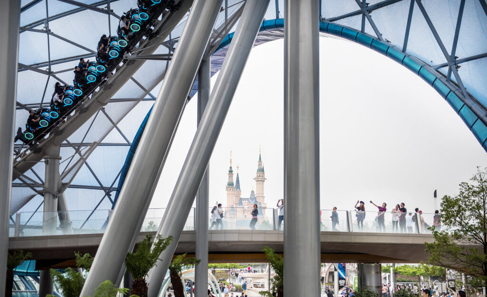 At a cost of $5.5 billion Shanghai Disney is packed with a lot of superlatives, including their fastest coaster and largest castle - Photo Credit: Fortune