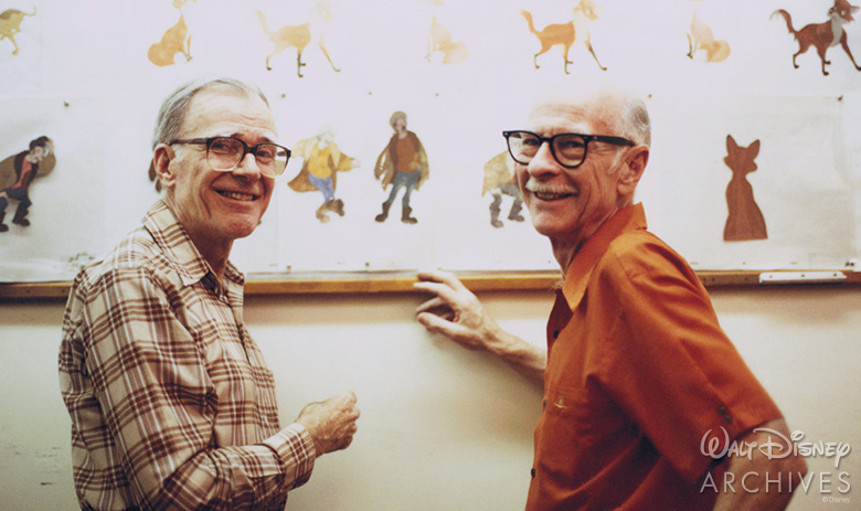 Frank Thomas and Ollie Johnston - Photo Credit: Disney