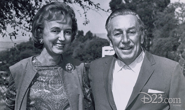 Walt meets with reporter Emily Bavar, who would predict that Disney is the mystery industry - Photo Credit: Disney