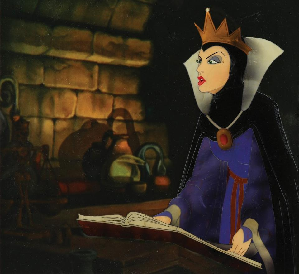 Walt Disney's original animation of the Wicked Queen from 'Snow White and the Seven Dwarves' is hitting the auction block - Photo Credit: Disney